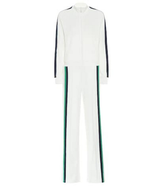 Tory Sport Cotton-blend jumpsuit in white