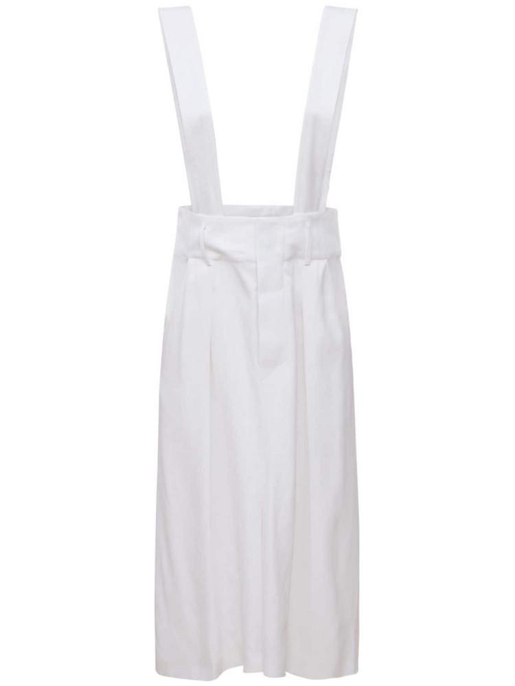 ISABEL MARANT Laraya Costard Viscose Midi Skirt in white