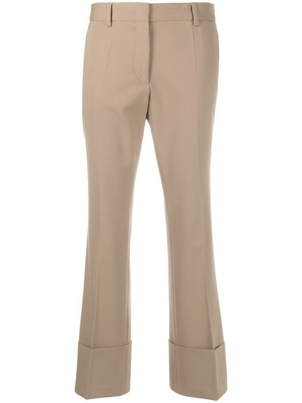 Alberto Biani mid-rise flared trousers in brown