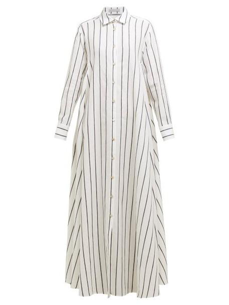 Palmer/harding Palmer//harding - Casablanca Striped Cotton Blend Shirtdress - Womens - Navy Stripe