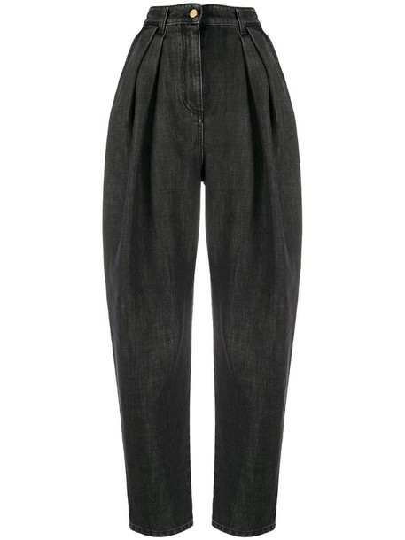 Alberta Ferretti high-waisted loose-fit jeans in grey