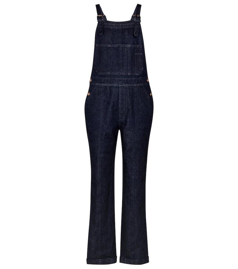 Gabriela Hearst Hans denim overalls in blue