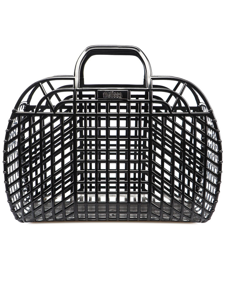Melissa Perforated Tote in black