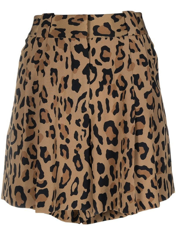 Blazé Milano leopard print fluid shorts in brown