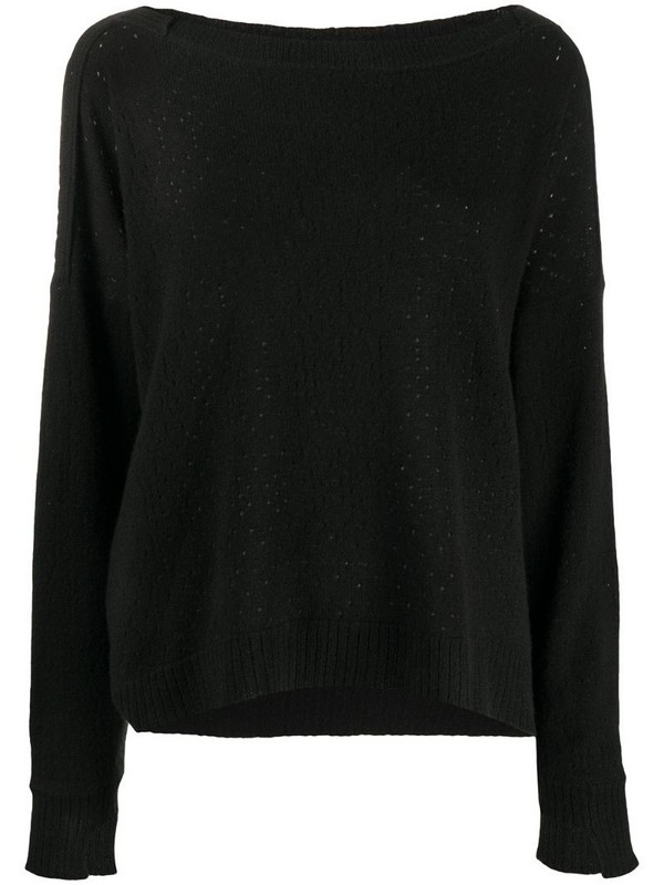 Maison Flaneur cashmere flared jumper in black