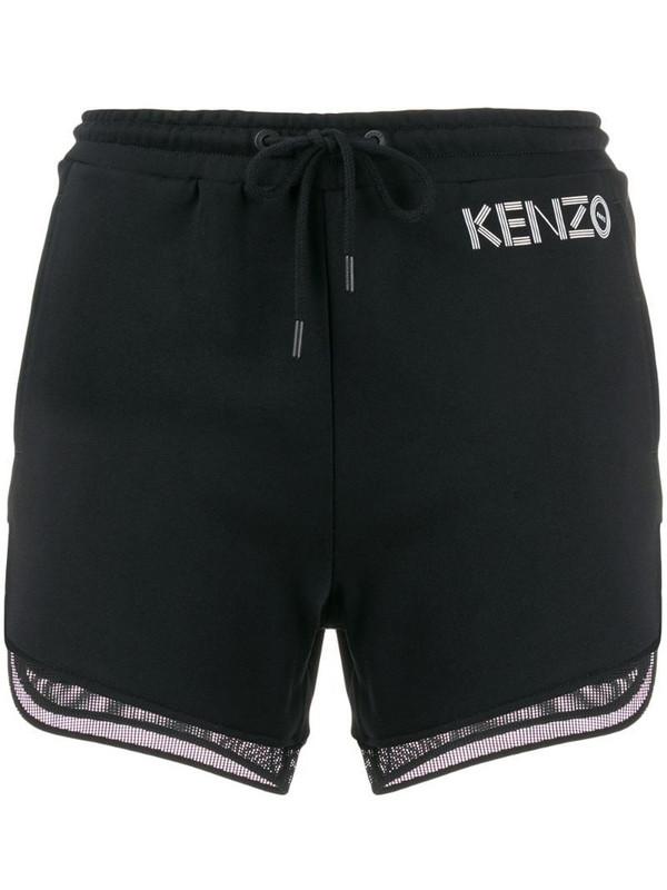 Kenzo mesh-trimmed shorts in black