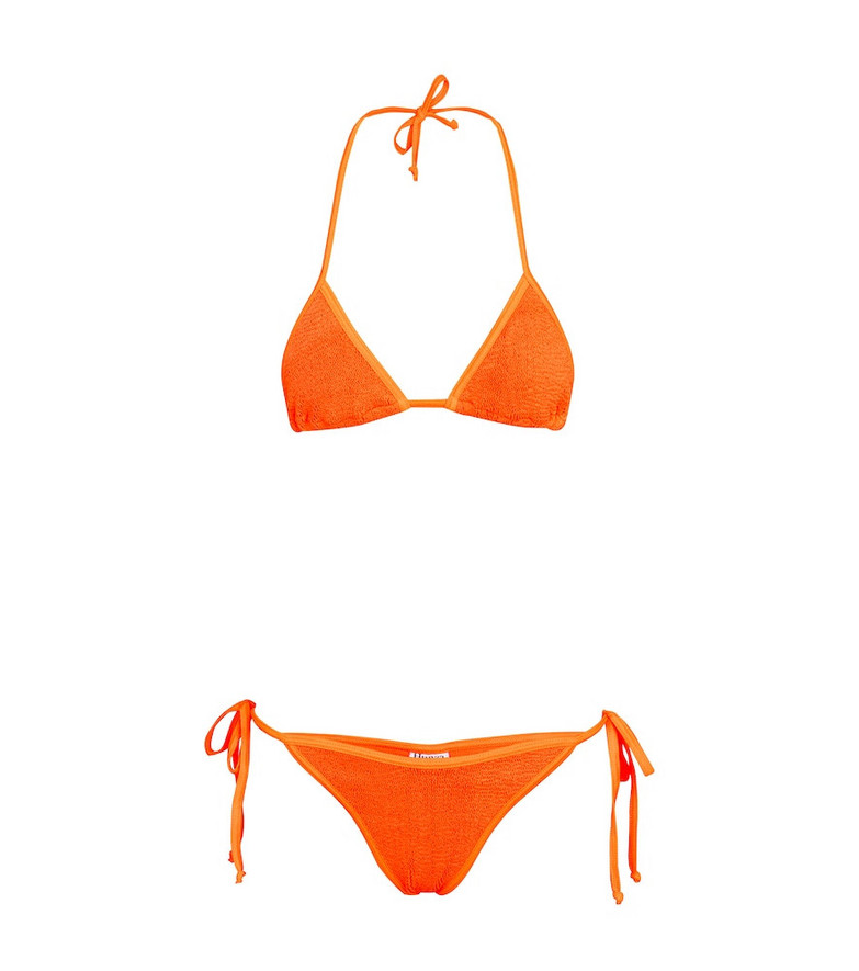 Hunza G Carmen triangle bikini in orange