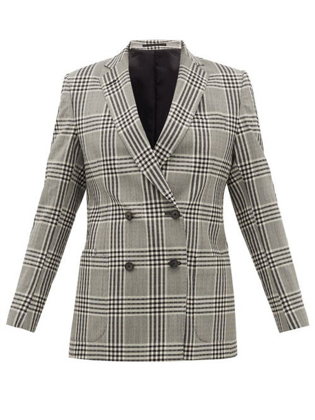 Officine Générale - Mathilde Checked Wool-seersucker Blazer - Womens - Grey