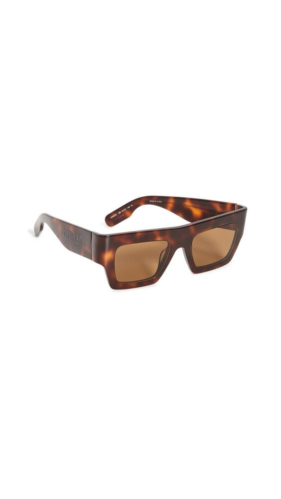 KENZO Rectangular Sunglasses in brown