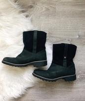 shoes,timberlands,olive green,black