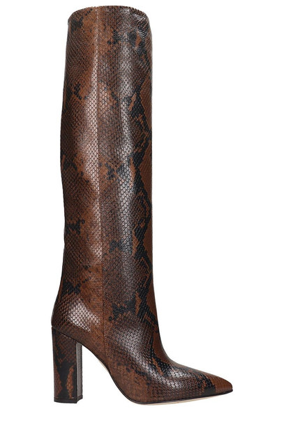 Paris Texas Boots In Brown Leather