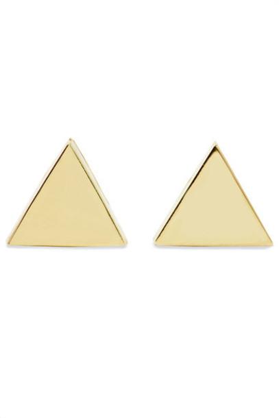 Jennifer Meyer - Mini Triangle 18-karat Gold Earrings