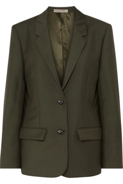 Bottega Veneta - Mohair And Wool-blend Blazer - Green