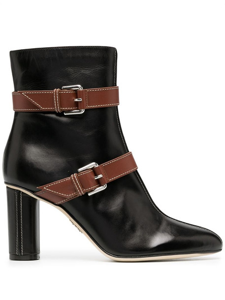 Rodo buckle-detail leather boots in black