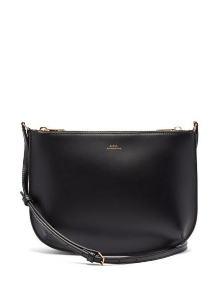 A.P.C. A.P.C. - Sarah Smooth-leather Cross-body Bag - Womens - Black