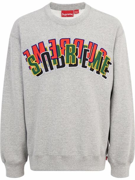 Supreme Stacked crewneck sweatshirt - Grey
