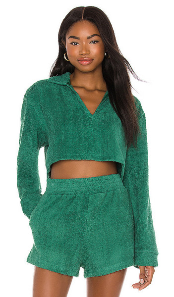 The Bar Nick Top in Teal in green