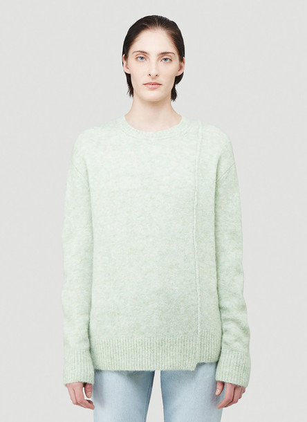 Acne Studios Textured Knit Sweater in Green size S