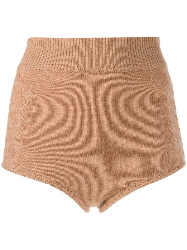 Cashmere In Love ribbed Mimie shorts in neutrals