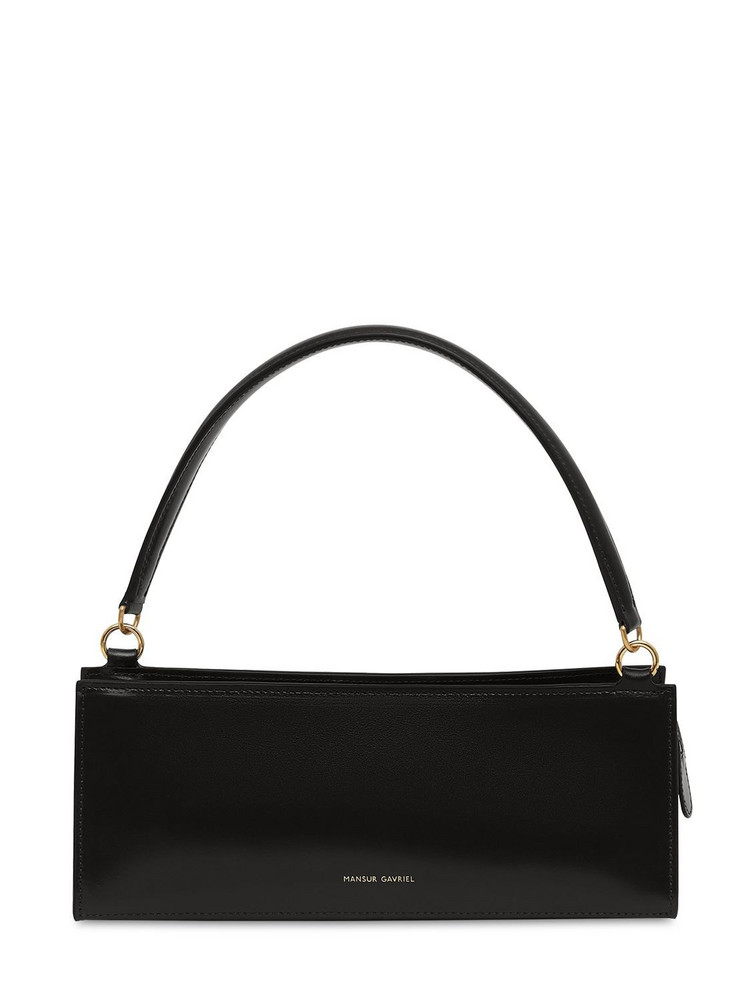 MANSUR GAVRIEL Leather Pencil Shoulder Bag in black