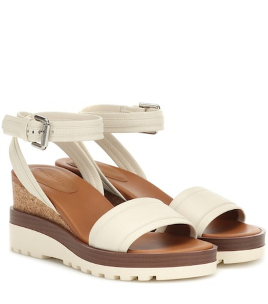 See By Chloé Leather wedges in white