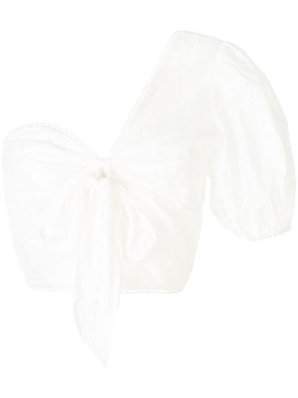 We Are Kindred Lola asymmetric blouse in white