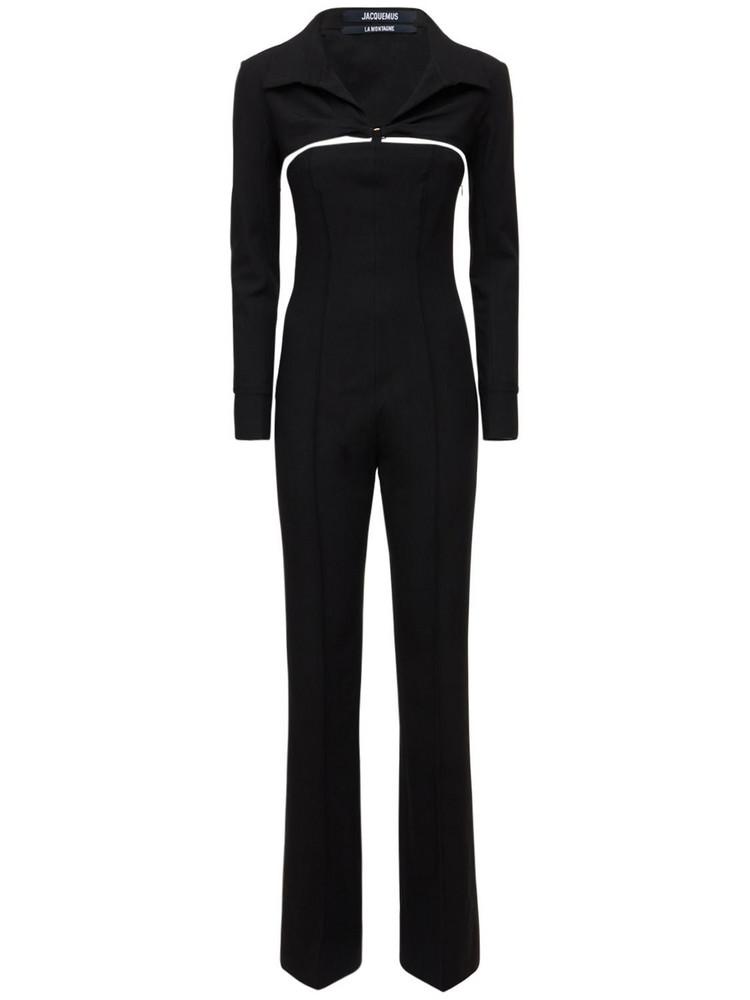 JACQUEMUS La Combinaison Asao Canvas Jumpsuit in black