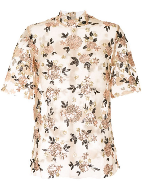 Macgraw sheer shell top in neutrals