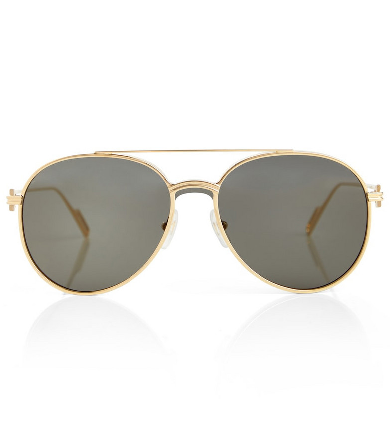 Cartier Eyewear Collection Metal aviator sunglasses in gold
