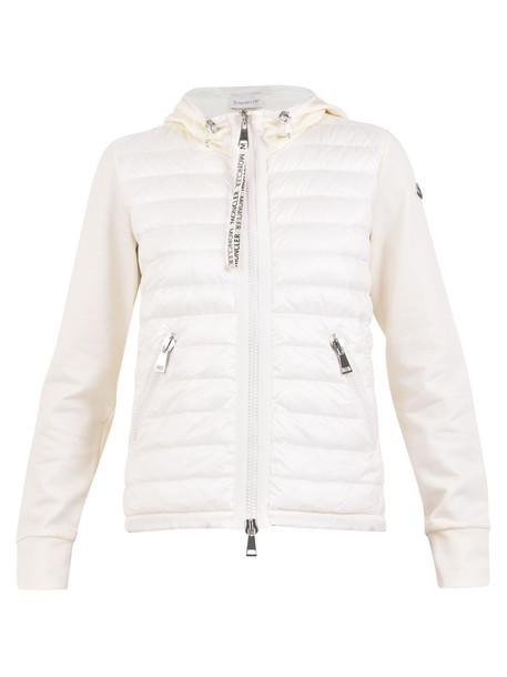 Moncler Branded Sweatshirt in white