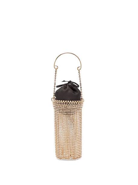 Rosantica - Ghizlan Mini Crystal-embellished Clutch Bag - Womens - Black Multi