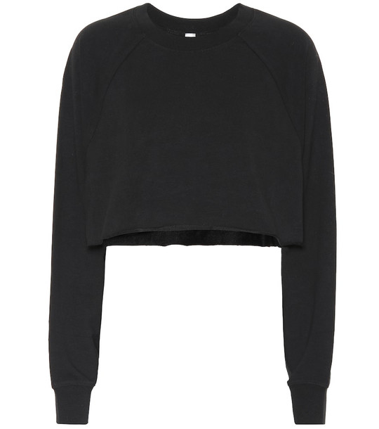 Alo Yoga Double Take cotton-blend sweater in black