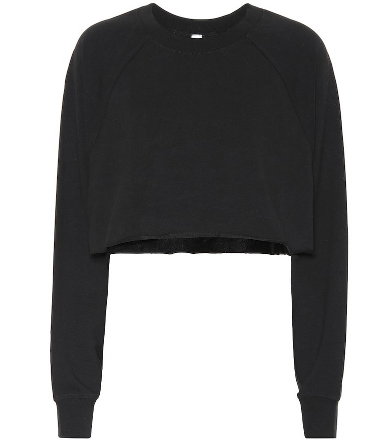 Alo Yoga Double Take cotton-blend sweater in black