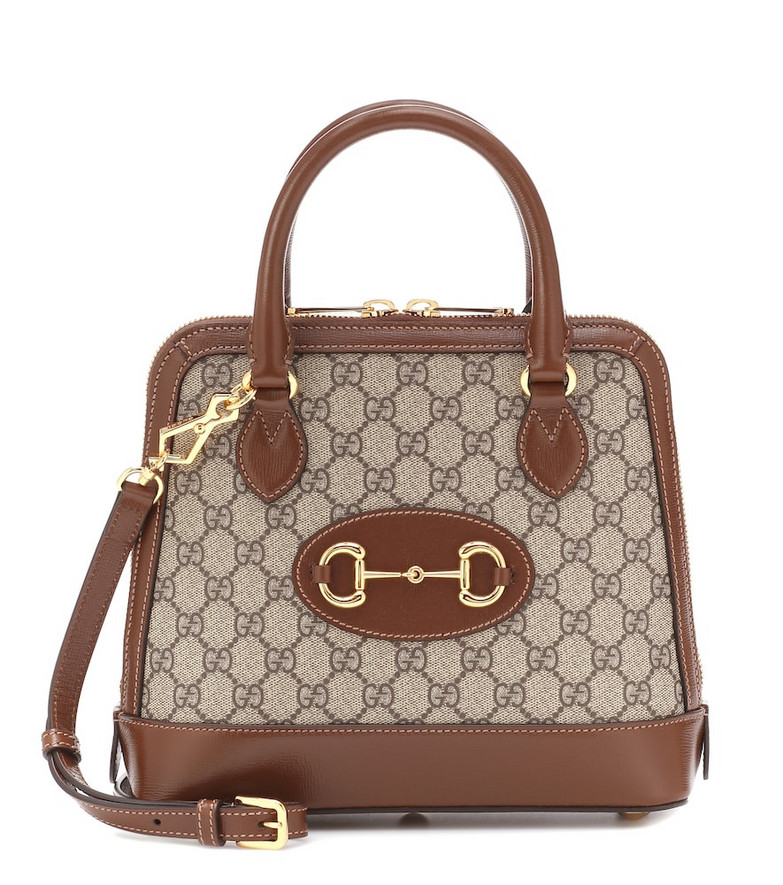 Gucci 1955 Horsebit Small leather tote in brown
