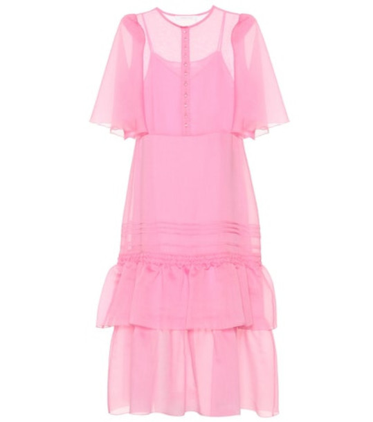 See By Chloé Tiered midi dress in pink