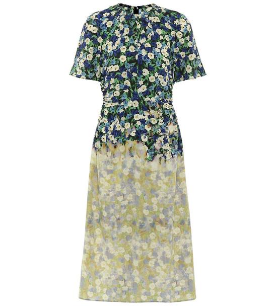 Rokh Floral silk midi dress
