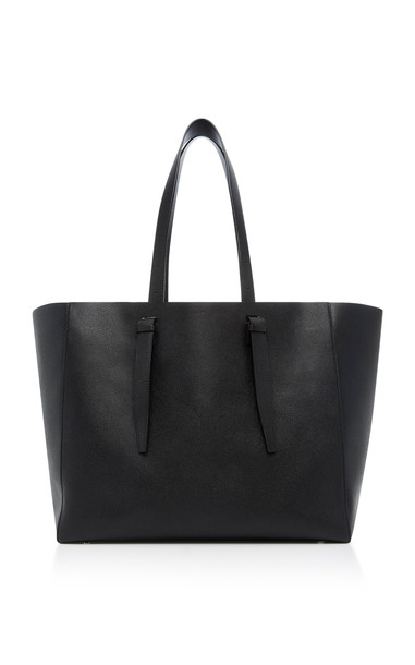 Valextra Soft XL Leather Tote in black