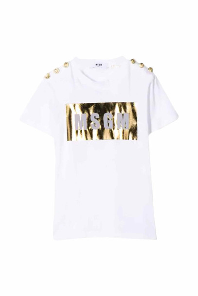 MSGM Cotton T-shirt in bianco