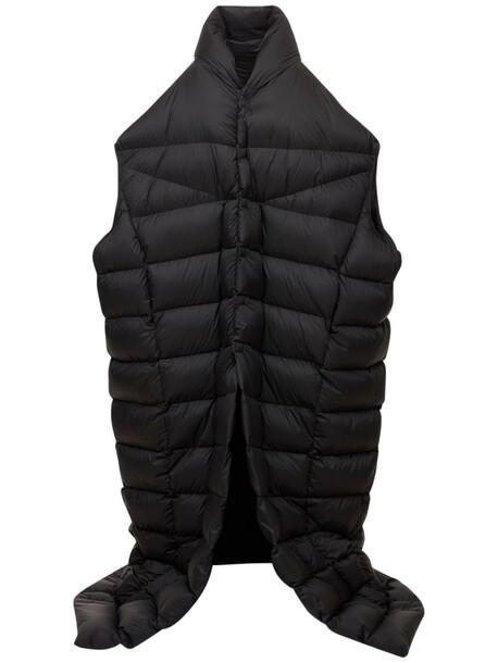 RICK OWENS Oversized Nylon Down Coat in black