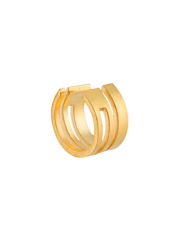 Hsu Jewellery geometric ear cuff in gold