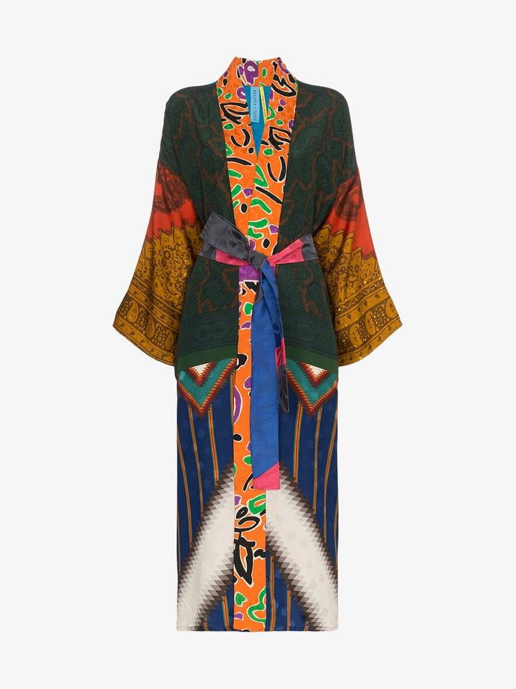 Rianna + Nina Rianna + Nina mixed aztec print silk kimono