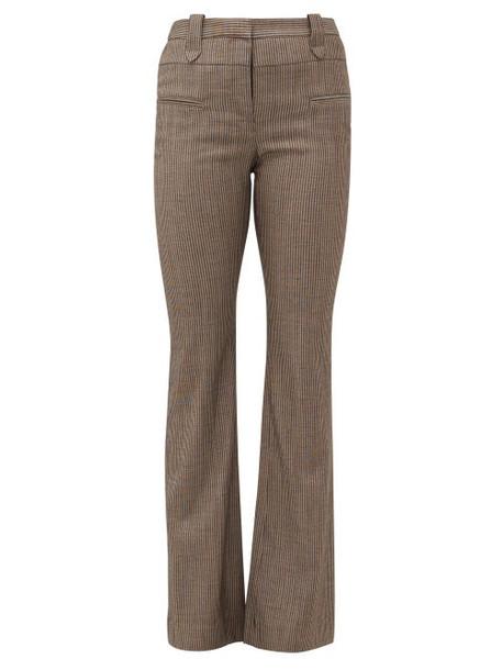 Altuzarra - Serge Pinstripe Wool-blend Trousers - Womens - Brown