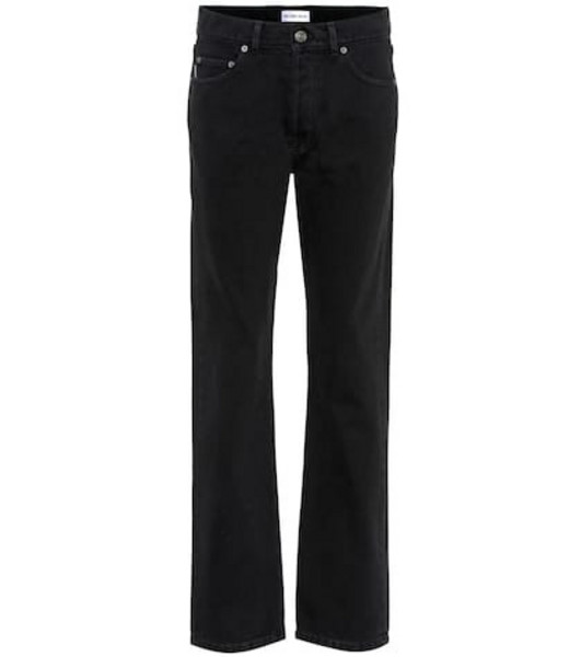 Balenciaga Distressed mid-rise straight jeans in black
