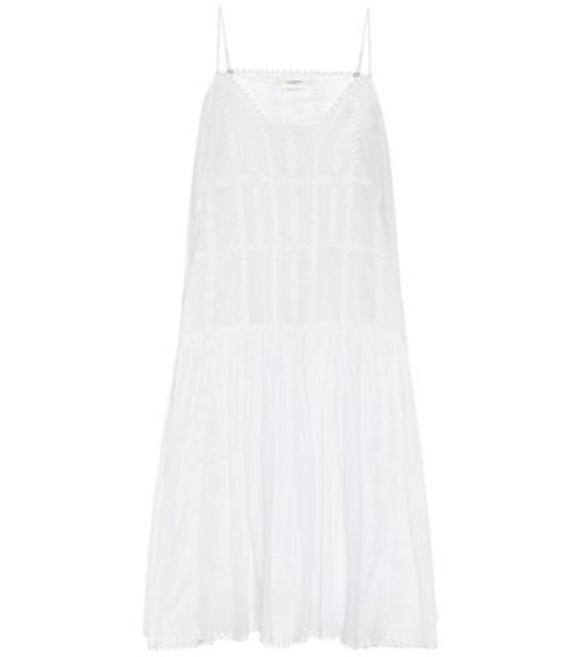 Isabel Marant, Étoile Amelie embroidered cotton midi dress in white