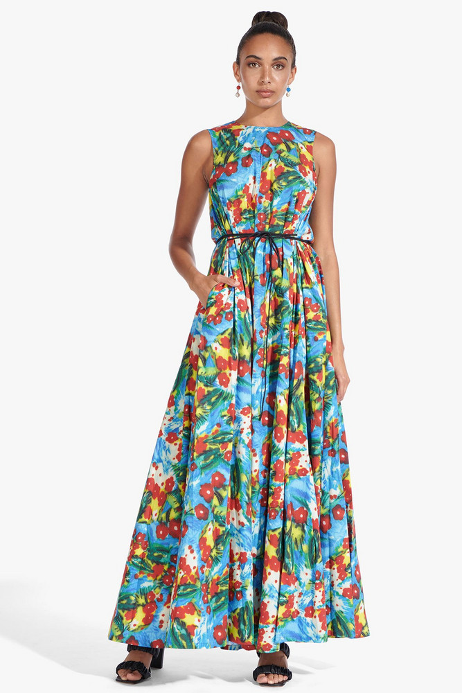 Staud ALOALO DRESS | ABSTRACT FLORAL