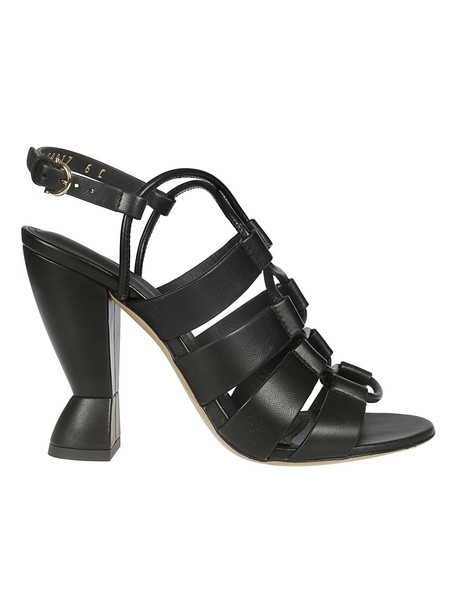 Salvatore Ferragamo Sculptural Heel Sandals in black