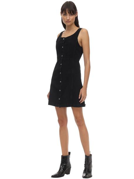 LEVI'S RED TAB Sienna Fitted Cotton Denim Mini Dress in black