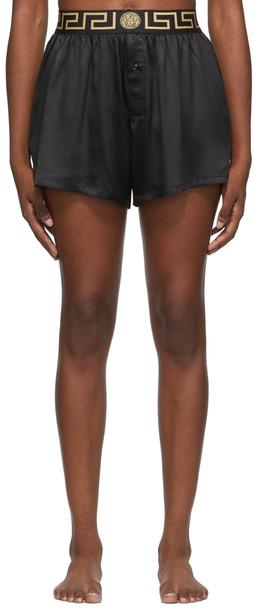 Versace Underwear Black Greca Boxer Shorts