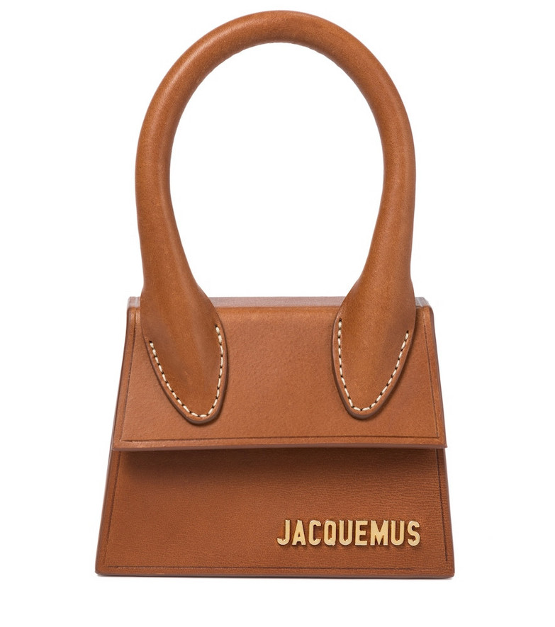 Jacquemus Le Chiquito leather tote in brown