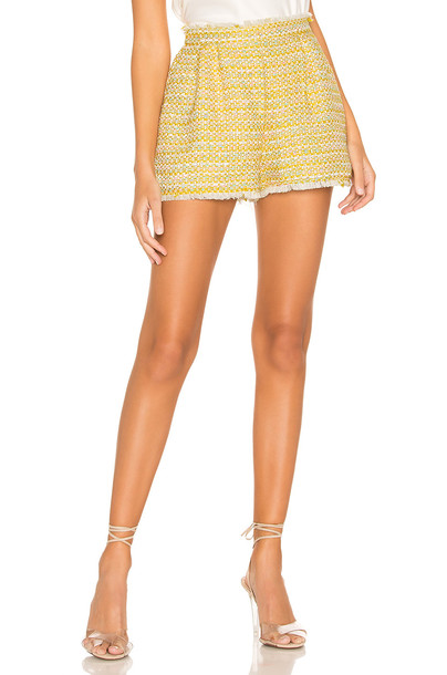 Lovers + Friends Analee Short in yellow
